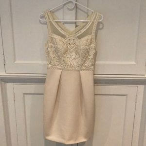 Sue Wong ivory cocktail dress, sz 2